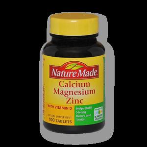 کلسیم منیزیم زینک + ویتامین د نیچرمید